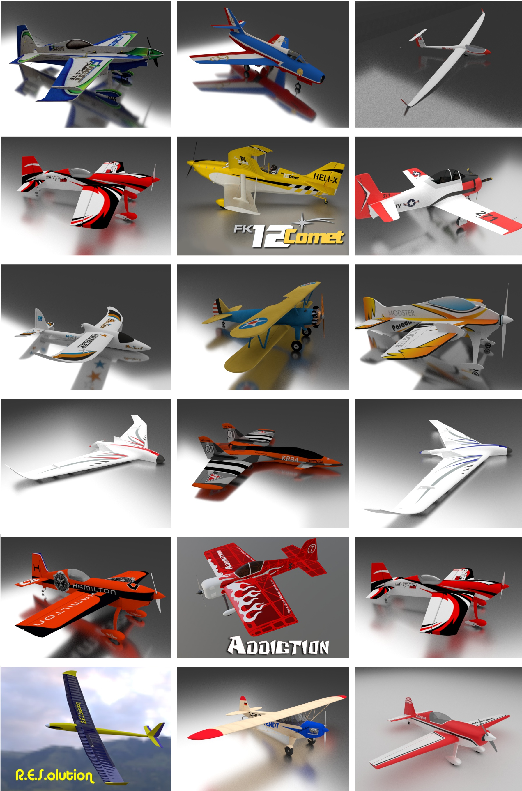 the first 18 planes of version 8